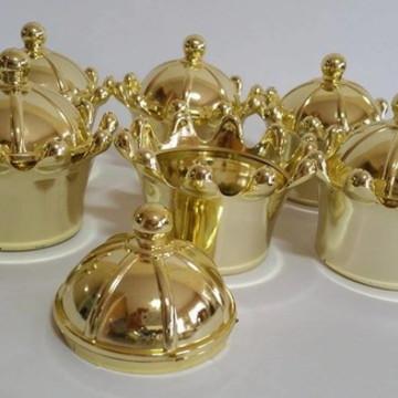 Coroa Acrilica Dourada ou Prateada