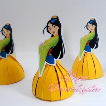 Porta Bombom Princesa Mulan - COM BOMBOM