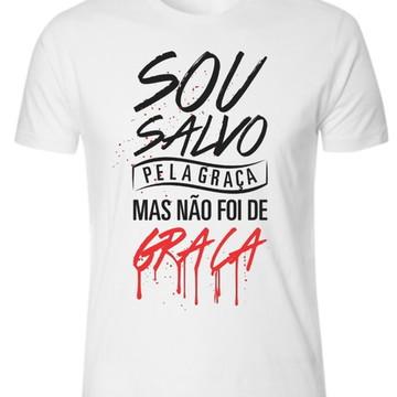 Camiseta ,camisa Sou Salvo pela Graça