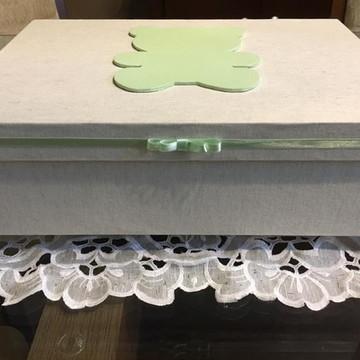 caixa decorada em linho