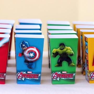 Caixinha Pipoca Lego Avengers