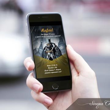 Convite Digital Infantil Batman!