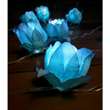 Luz de fada flor - azul claro