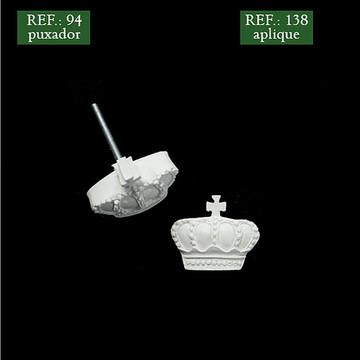 Puxador Coroa - Resina
