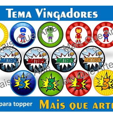 Arte Digital Toppers Vingadores