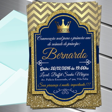 Convite Digital Realeza príncipe reinado
