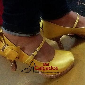 Sapato Salto gliter luxo