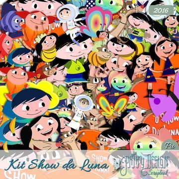 Kit Scrapbook Digital Show da Luna
