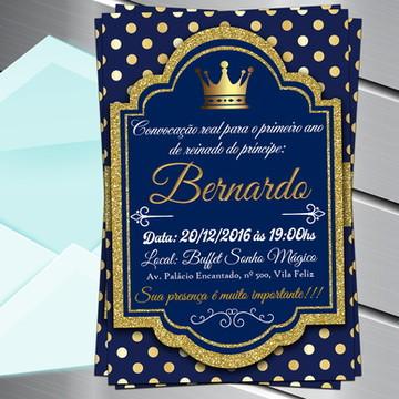Convite Digital Realeza Cora Príncipe