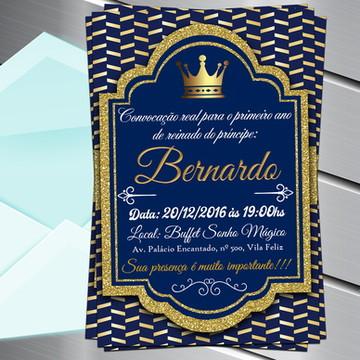 Convite Digital Realeza Reinado Príncipe