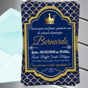 Convite Digital Príncipe Realeza Reinado