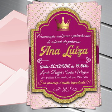 Convite Digital Princesa Realeza Reinado