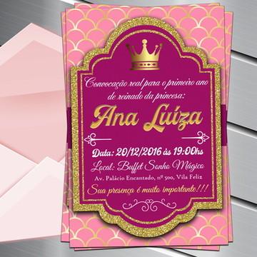 Convite Digital Reinado Realeza Princesa
