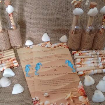 Convite de Casamento Praia na Garrafa