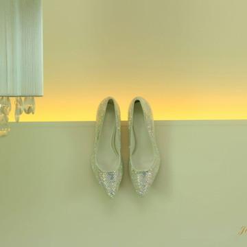 Sapato de Noiva cravejado com cristais
