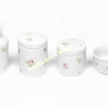 Kit Higiene Bebê Porcelana Floral