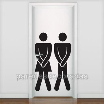 Adesivo Banheiro Feminino e Masculino