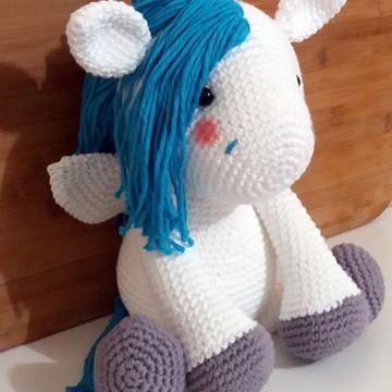 Amigurumi de Crochê Pegasus Percy Grande