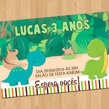 Convite - Tema Dinossauro