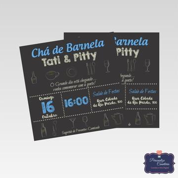 Convite Chá de Barnela | Arte Digital