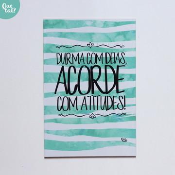 Placa decorativa - Durma com idéias