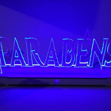 Luminária Parabéns com LED