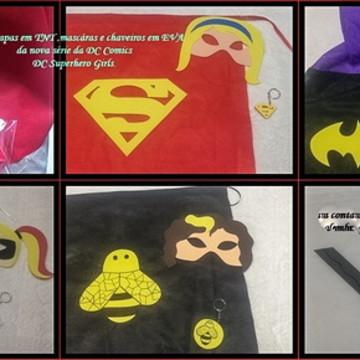 Kit de capa e Mascara Superhero girls
