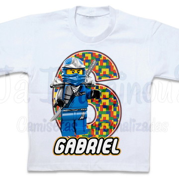 Camiseta Lego Ninjago Azul