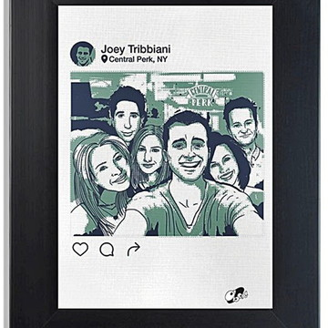 QUADRO POSTER - INSTAGRAM DO FRIEDS