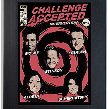 QUADRO POSTER - CHALLENGER ACCEPTED
