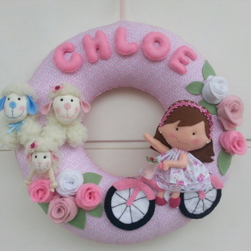 Guirlanda bicicleta menininha