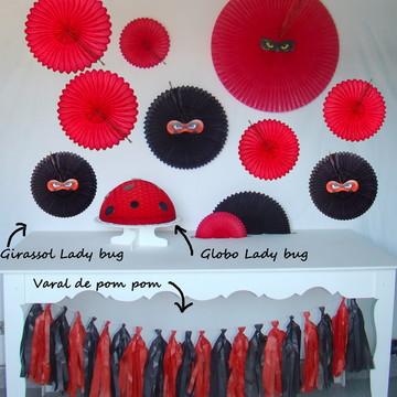 Kit decoração Lady artigos p/ festa Bug