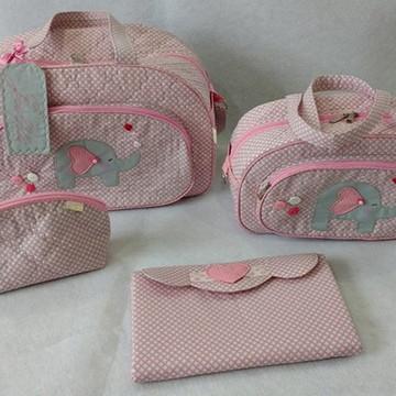 Kit malas de maternidade em tecido