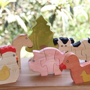 Kit Animais da Fazenda para Montar