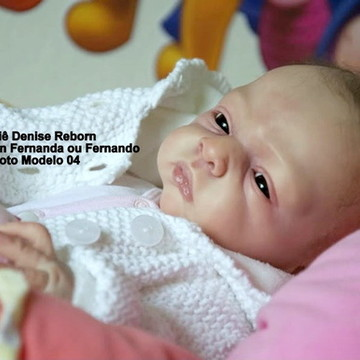 Boneca Bebê Reborn Fernanda ou Fernando Opção Sem Enxoval