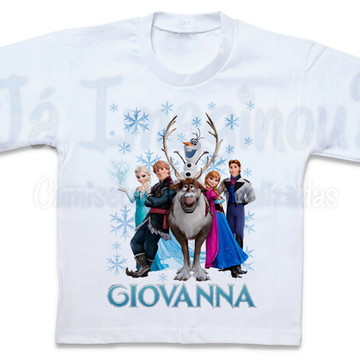 Camiseta Frozen Personagens