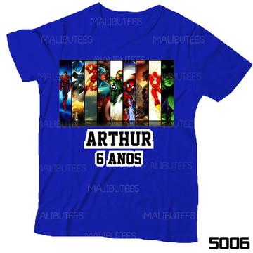 Camiseta Vingadores Aniversario Herois