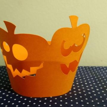 Saia para Cupcake Abóbora Halloween
