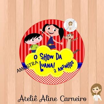 Adesivo Latinha Show da Luna