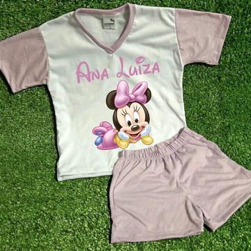 Pijama Infantil Personalizado Minnie