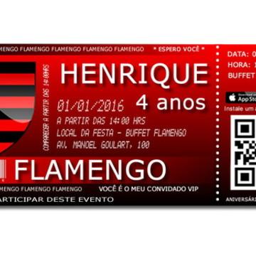 Convite Digital Vip do Flamengo