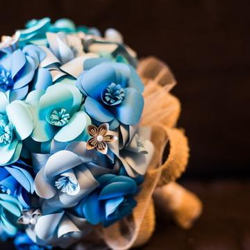 Buque de Origami para noivas