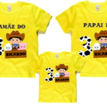Kit camisetas aniversario Fazendinha 3