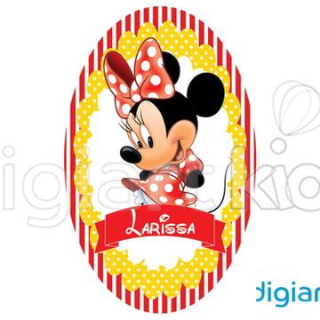 Placa Painel para Decoração Festa Minnie
