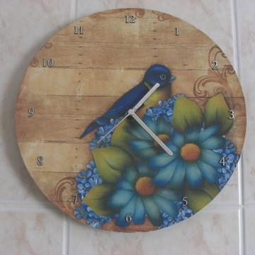 """Relógio """"Pássaro Azul"""""""
