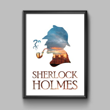 Poster sherlock holmes com moldura