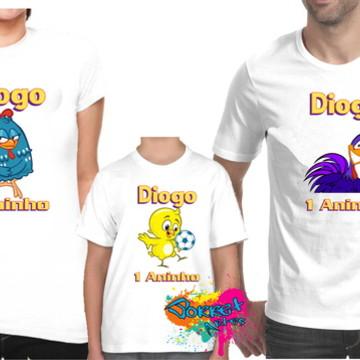Camisa Galinha Pintadinha 3 Pçs