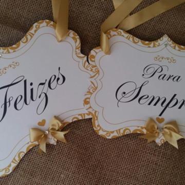 Placa cadeira dos noivos Classic