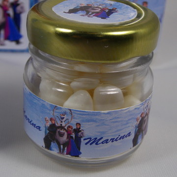 Mini Pote de vidro para Guloseimas