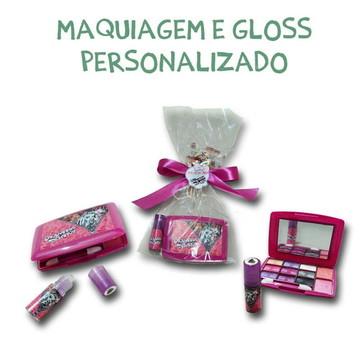 Kit maquiagem com gloss personalizado